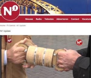 TV N1 duurzame estafettestokje van De Bastei naar Lions Club Nijmegen